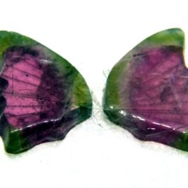 Tourmaline Hand Carved Butterfly 2.95ct (13x15mm) Nigerian