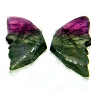 Tourmaline Hand Carved Butterfly 1.50ct (12x13mm) California Himalaya Mine