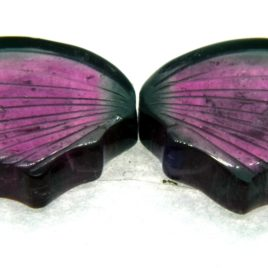 Tourmaline Hand Carved Butterfly 15.40ct (15x27mm) Nigerian