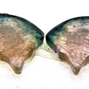 Tourmaline Hand Carved Butterfly 8.40ct (15x26mm) Namibian