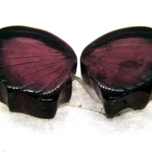 Tourmaline Hand Carved Butterfly 8.85ct (12x20mm) Nigerian