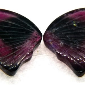 Tourmaline Hand Carved Butterfly 13.50ct (20x32mm) Nigerian