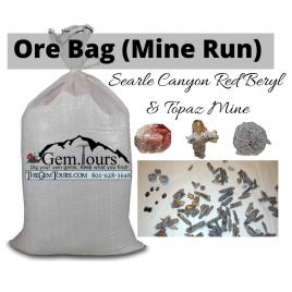 ORE Bulk Bag of Mine Run [SC Red Beryl Mine] (Red Beryl, Bixbyite, Topaz, Pseudobrookite, etc)