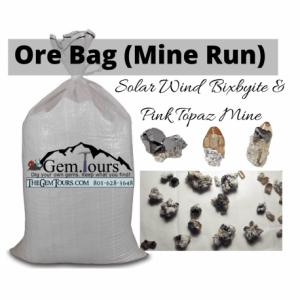 ORE Bulk Bag of Mine Run [Solar Wind Mine] (Bixbyite, Pink Topaz, Pseudobrookite, Hematite, Fluorite, Chalcedony, etc)